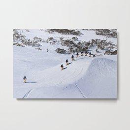 Ski Cross Metal Print