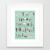 stripes Framed Art Prints featuring Stripes by Noelle Stevenson