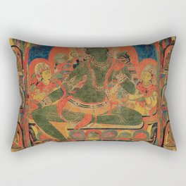 Hindu Krishna Tapestry Rectangular Pillow