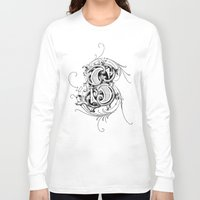 monogram Long Sleeve T-shirts featuring monogram s by Art Lahr