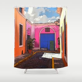 Old San Juan Ally Shower Curtain