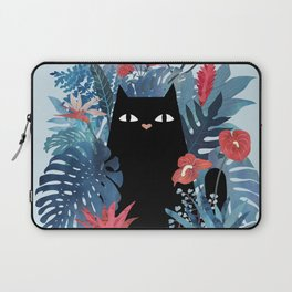 Popoki in Blue Laptop Sleeve