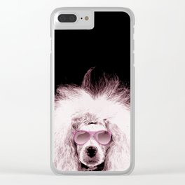 Poodle Dog Digital Art Clear iPhone Case