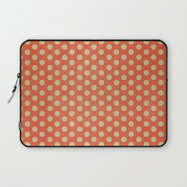 Lots of Dots - Geometric Pattern Design (Orange) Laptop Sleeve