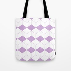 Abstract pattern - purple and white. Tote Bag