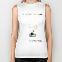 coffe Biker Tanks featuring Paragliding: take a coffe! I love thermal by Blinding Room Art