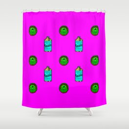 Retro Pattern Clean Shower Curtain