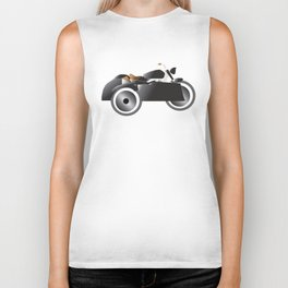 Vintage Motorcycle + Sidecar Biker Tank