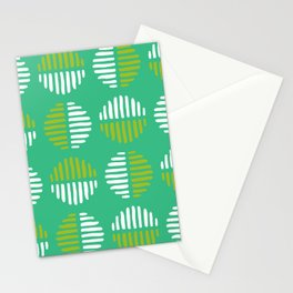 Abstract Circles Lime Green Stationery Cards