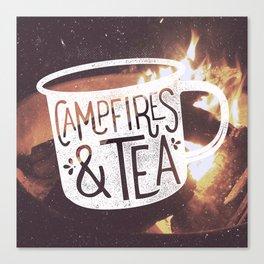 Campfires & Tea Canvas Print