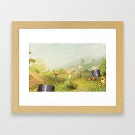 Plumber Summer Framed Art Print