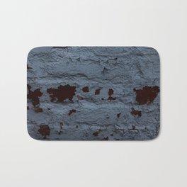 Textured Brick Blue Bath Mat