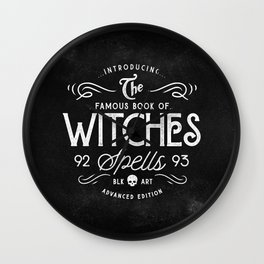 The Witches guide to spells Wall Clock
