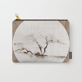 Scots Pine Paper Bag Sepia Carry-All Pouch