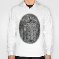 tardis Hoodies featuring Tardis by Elizabeth A