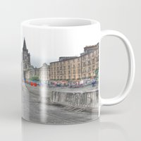 edinburgh Mugs featuring Edinburgh by Christine Workman