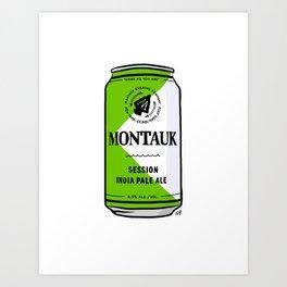 Montauk Beer Can Art Print