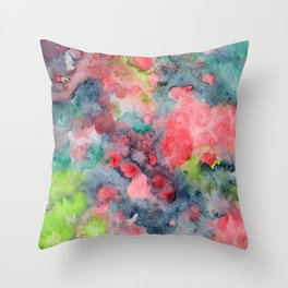 where poppies bloom Throw Pillow