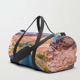 Valley of Fire panoramic road Duffle Bag