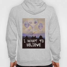 I Want to Believe painting Hoody