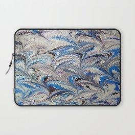 Blue Nonpareil Water Marbling Laptop Sleeve