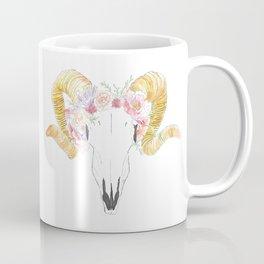 skull + flowers Coffee Mug