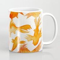 goldfish Mugs featuring Goldfish by Cat Coquillette