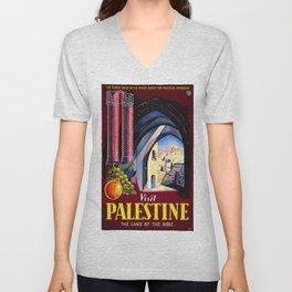 Vintage poster - Palestine Unisex V-Neck