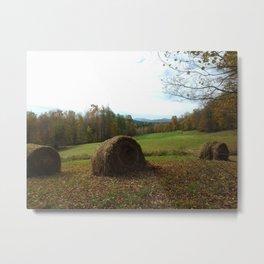 Fall Hay Metal Print