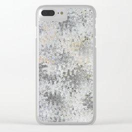 Abstract gray Clear iPhone Case