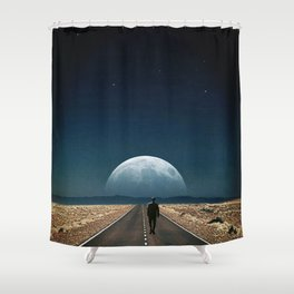 Walking away ... Shower Curtain