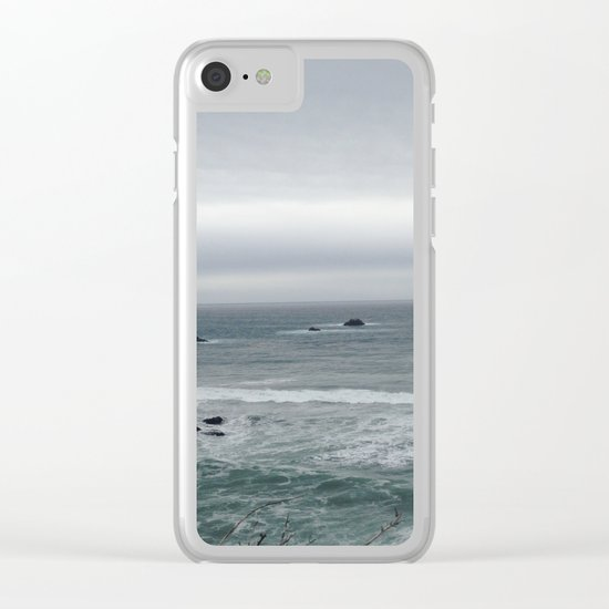 Green water Clear iPhone Case