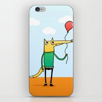 baloon iPhone & iPod Skins featuring Fox & Baloon by Pedro Vilas Boas