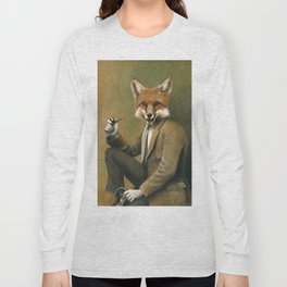 Vintage Fox In Suit Long Sleeve T-shirt