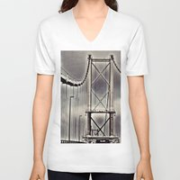bridge V-neck T-shirts featuring Bridge by itsthezoe