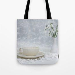 Snowdrops at Teatime Tote Bag