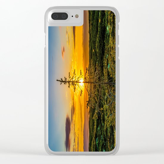 Vibrant Sunset Clear iPhone Case