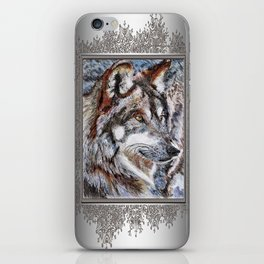 Gray Wolf Watches and Waits iPhone Skin