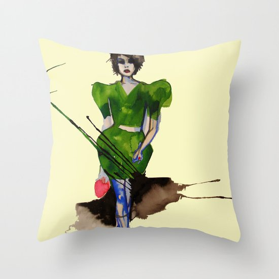 Models Ink 11 Throw Pillow