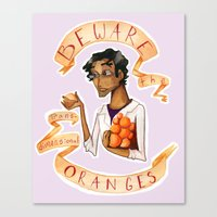 wtnv Canvas Prints featuring Beware the Oranges by Livvy