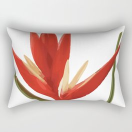 Helicona Flower red Rectangular Pillow