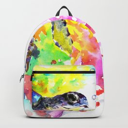 Sea Turtle in Coral Reef design, sea world colorful coral sea world design Backpack