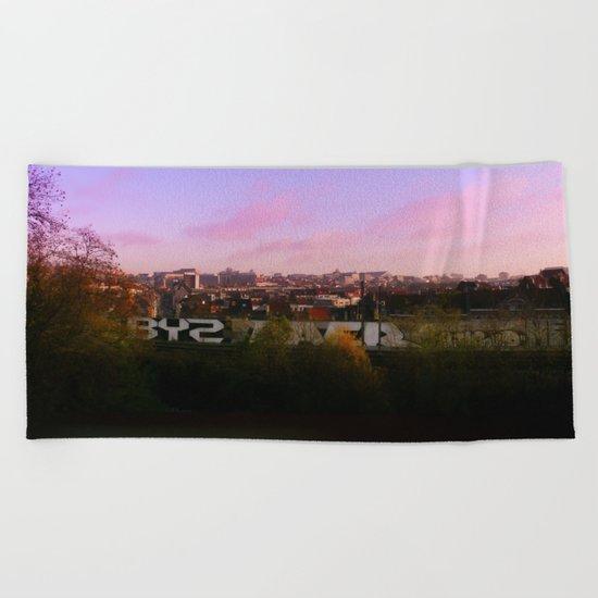 Urban City Light Beach Towel