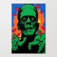 frankenstein Canvas Prints featuring Frankenstein by Sellergren Design - Art is the Enemy