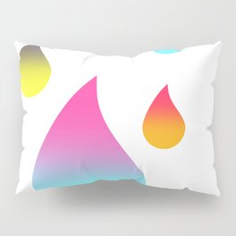 Rainbow Raindrops Pillow Sham