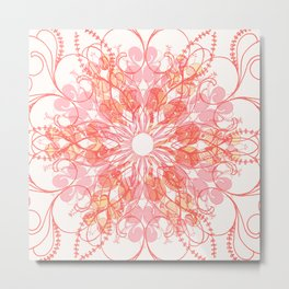 Hyper Brights Mandala Metal Print