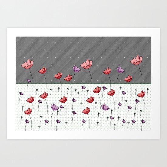 FLOWER LAND FANTASY Art Print