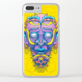 Mask of tomorrow Clear iPhone Case