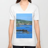 500 days of summer V-neck T-shirts featuring Summer Days by Phil Smyth