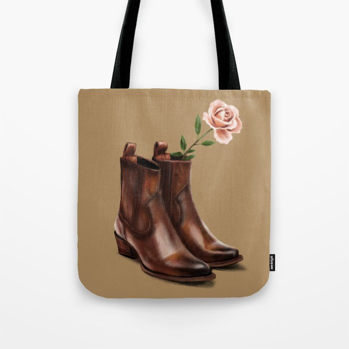 6f640e9697818 These Boots Tote Bag by themadishradish